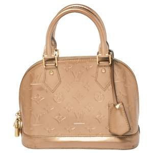 Louis Vuitton Beige Monogram Vernis Alma BB Bag