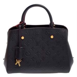 Louis Vuitton Marine Rouge Monogram Empreinte Leather Montaigne BB Bag