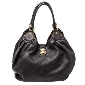 Louis Vuitton Chocolate Brown Monogram Mahina Leather L Bag
