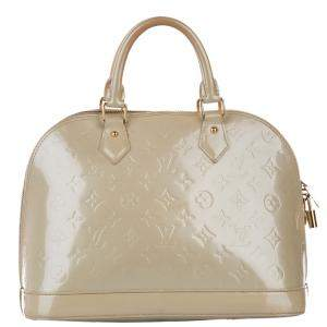 Louis Vuitton Brown Monogram Vernis Alma PM Bag