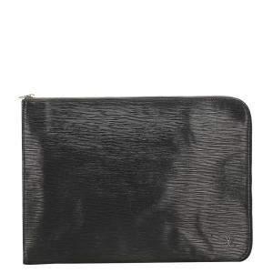 Louis Vuitton Black Epi Leather Pochette Jour GM Clutch