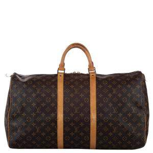 Louis Vuitton Monogram Canvas Keepall 55 Bag