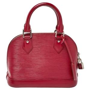 Louis Vuitton Fuchsia Epi Leather Alma BB Bag