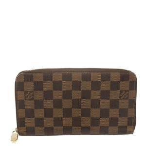 Louis Vuitton Damier Ebene Canvas Zippy Organizer Wallet