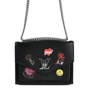 Louis Vuitton Black Leather Mylockme BB Bag