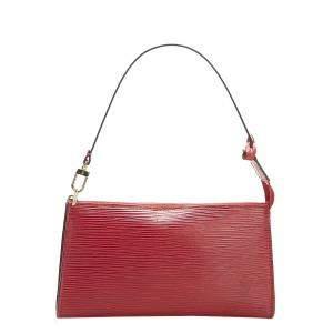 Louis Vuitton Red Epi Leather Pochette Accessoires Bag