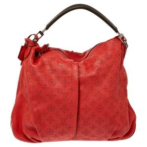 Louis Vuitton Corall Monogram Mahina Leather Selene MM Bag
