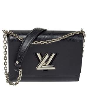 Louis Vuitton Black Epi Leather Twist MM Bag