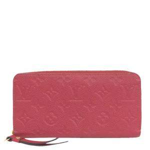 Louis Vuitton Red Monogram Empreinte Leather Zippy Wallet