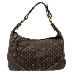 Louis Vuitton Fusain Monogram Mini Lin Canvas Manon MM Bag