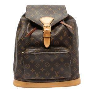 Louis Vuitton Brown Canvas  Montsouris Backpacks