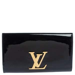Louis Vuitton Black Vernis Leather Louise Clutch