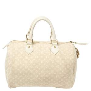 Louis Vuitton Dune Monogram Mini Lin Canvas Speedy 30 Bag