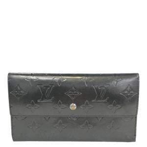 Louis Vuitton Grey Monogram Vernis Porte Tresor International Wallet