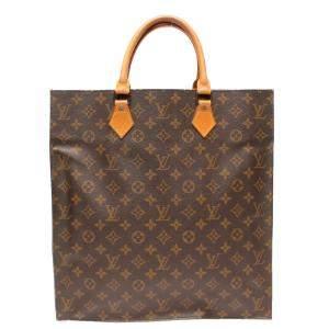 Louis Vuitton Brown Canvas  Sac Plat Totes