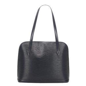 Louis Vuitton Black Leather Lussac Tote Bag
