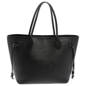 Louis Vuitton Black Epi Leather Neverfull MM Bag