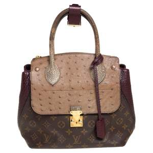 Louis Vuitton Bordeaux Exotique Monogram Limited Edition Majestueux PM Bag