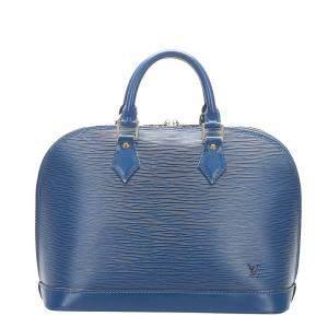 Louis Vuitton Blue Epi Leather Alma PM Bag