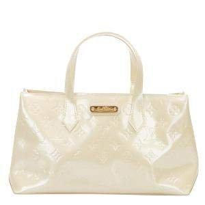 Louis Vuitton White Monogram Vernis Wilshire PM Bag