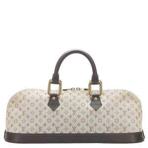 Louis Vuitton Monogram Mini Lin Canvas Alma Long Bag