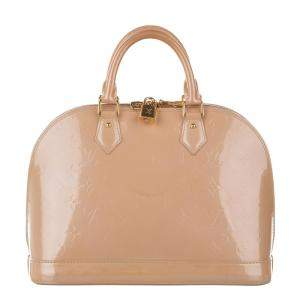 Louis Vuitton Beige Monogram Vernis Alma PM Bag