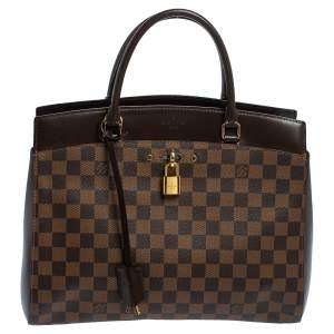 Louis Vuitton Damier Ebene Canvas Rivoli MM Bag