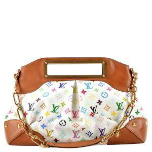 Louis Vuitton White/Multicolor Monogram Multicolore Canvas Judy GM Bag