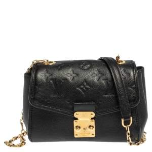 Louis Vuitton Black Empreinte Leather Saint Germain BB Bag