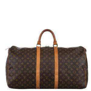 Louis Vuitton Monogram Canvas Monogram Keepall 55 Bag