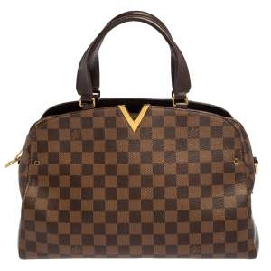 Louis Vuitton Damier Ebene Canvas Kensington Bowling Bag