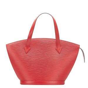 Louis Vuitton Red Epi Leather Saint Jacques Short Strap PM Bag