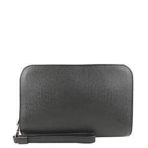 Louis Vuitton Black Taiga Leather Baikal Clutch
