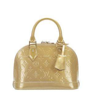 Louis Vuitton Brown Monogram Vernis Alma BB Bag