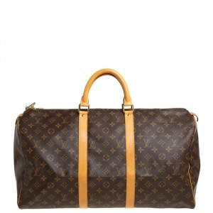Louis Vuitton Monogram Canvas Keepall Bandouliere 50 Bag