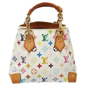 Louis Vuitton White Multicolor Monogram Canvas Audra Bag