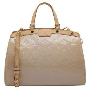 Louis Vuitton Beige Monogram Vernis Brea MM Bag