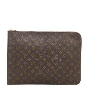 Louis Vuitton Brown Monogram Canvas Poche Document