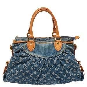 Louis Vuitton Blue Monogram Denim Neo Cabby MM Bag