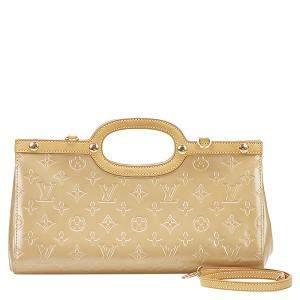 Louis Vuitton Beige Monogram Vernis Roxbury Drive Bag