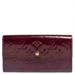Louis Vuitton Violette Monogram Vernis Sarah Wallet