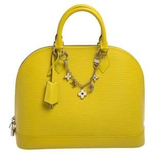 Louis Vuitton Pistache Epi Leather Alma MM Bag