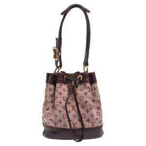 Louis Vuitton Cherry Red Monogram Mini Lin Canvas Noelie Bag