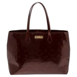 Louis Vuitton Rouge Fauviste Monogram Vernis Wilshire MM Bag