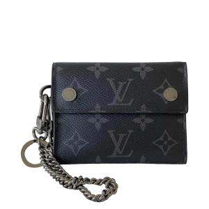 Louis Vuitton Monogram Eclipse Rivets Chain Wallet