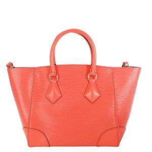 Louis Vuitton Orange Poppy Epi Leather Phenix PM Bag