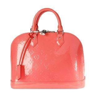 Louis Vuitton Orange Monogram Vernis Alma PM Bag