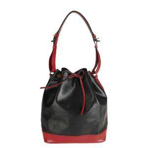 Louis Vuitton Black & Red Epi Leather Noe Bag