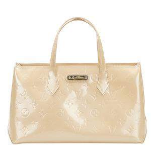 Louis Vuitton Beige Monogram Vernis Wilshire PM Bag