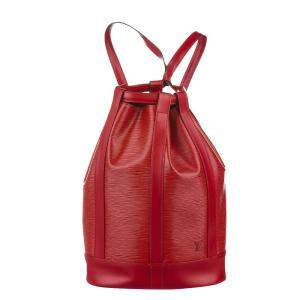 Louis Vuitton Red Epi Leather Randonnee PM Backpack